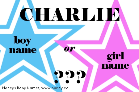 Charlie - boy name or girl name?
