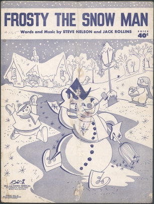 frosty the snowman, sheet music, 1950