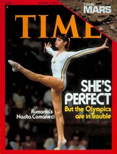 Nadia Comaneci, cover of TIME, 1976