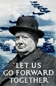 Winston Churchill WWII poster