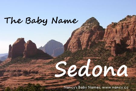 the baby name sedona