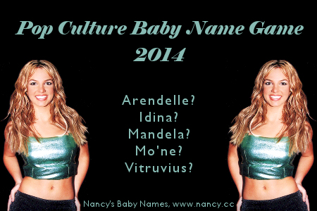 pop culture baby name game 2014