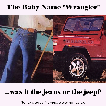 The '80s Baby Name Wrangler - Was it inspired by the jeans or the jeep?