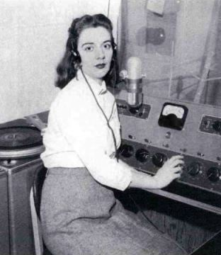 Dot Fisher of WHER radio station in the 1950s