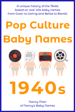 pop culture baby names, 1940s, ebook cover