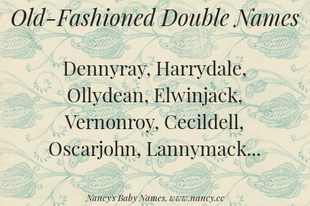 old-fashioned double names